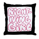 Right-Wing Girl Throw Pillow