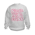 Right-Wing Girl Kids Sweatshirt