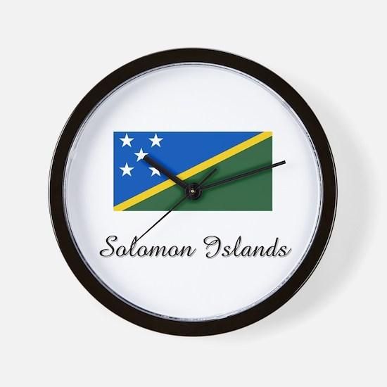 Solomon Islands Flag Wall Clock
