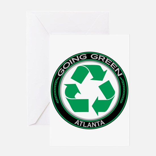 Going Green Atlanta Recycle Greeting Card