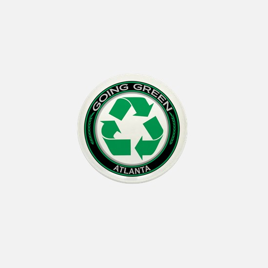 Going Green Atlanta Recycle Mini Button
