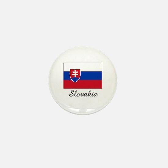 Cute Slovakia flag Mini Button