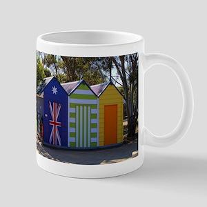 Poolside change huts Mugs
