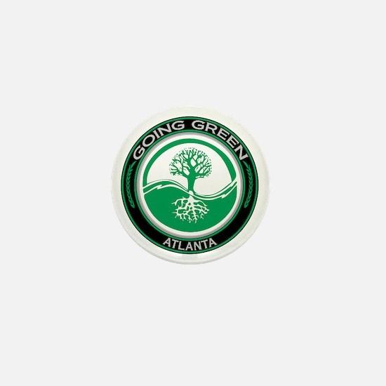Going Green Atlanta Tree Mini Button