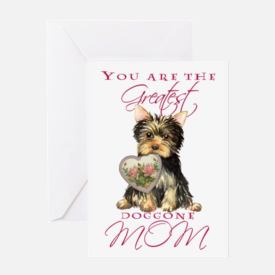 Yorkie Mother's Day Greeting Card