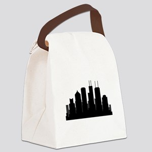 chicago skyline Canvas Lunch Bag