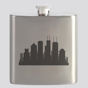 chicago skyline Flask