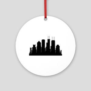 chicago skyline Round Ornament