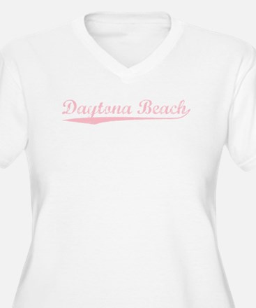 Vintage Daytona Be.. (Pink) Plus Size T-Shirt