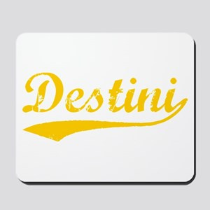 Vintage Destini (Orange) Mousepad