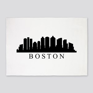 Boston skyline 5'x7'Area Rug