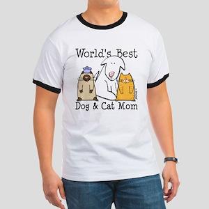World's Best Dog & Cat Mom Ringer T