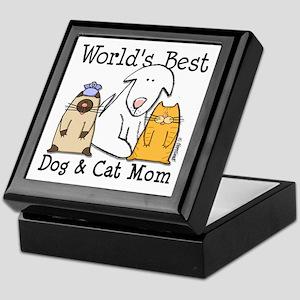 World's Best Dog & Cat Mom Keepsake Box