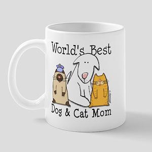 World's Best Dog & Cat Mom Mug