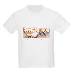 Driftwood Beach East Hampton Kids T-Shirt