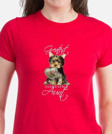 Yorkie Aunt Women's Dark T-Shirt