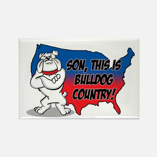 Bulldog Country Rectangle Magnet