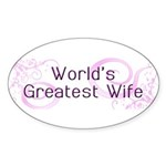 World's Greatest Wife Oval Sticker (50 pk)