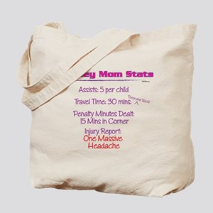 Hockey Mom Stats Tote Bag
