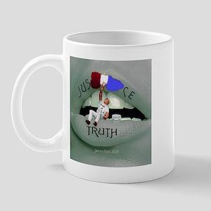 Justice v. Truth Mug