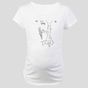 Trees Fight Back (b/w) Maternity T-Shirt