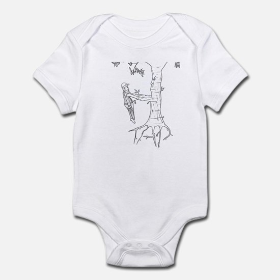 Trees Fight Back (b/w) Infant Bodysuit