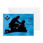 Masonic Friend to Friend Greeting Cards (Pk of 10)