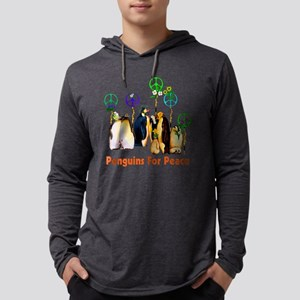 Penguins For Peace Mens Hooded Shirt