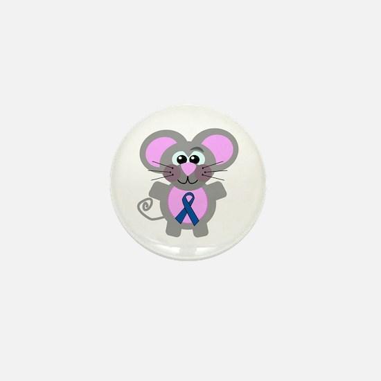 Blue Awareness Ribbon Goofkins Mouse Mini Button