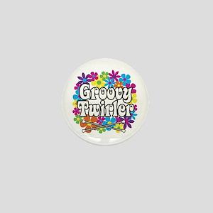 Groovy Twirler Mini Button