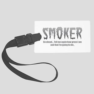 Smoker Large Luggage Tag
