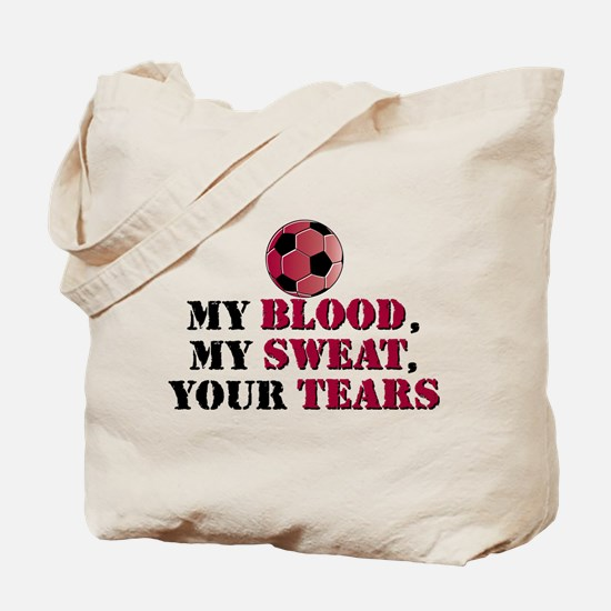 Blood Sweat Soccer Tote Bag