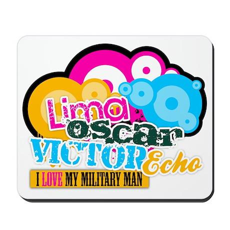 LimaOscarVictorEcho Military Mousepad