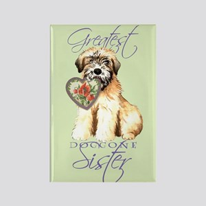 Wheaten Sister Rectangle Magnet