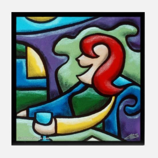 Pair of Drinkers: Woman Tile Coaster