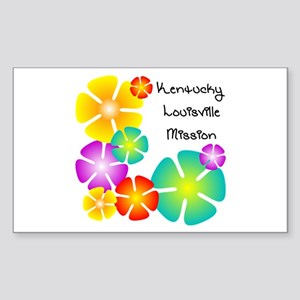 Kentucky Louisville Mission Rectangle Sticker