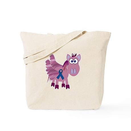 Blue Awareness Ribbon Goofkins Pegasus Tote Bag