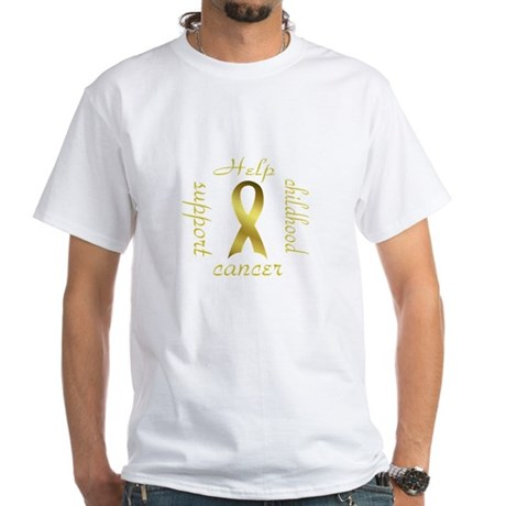 Support Childhood Cancer White T-Shirt