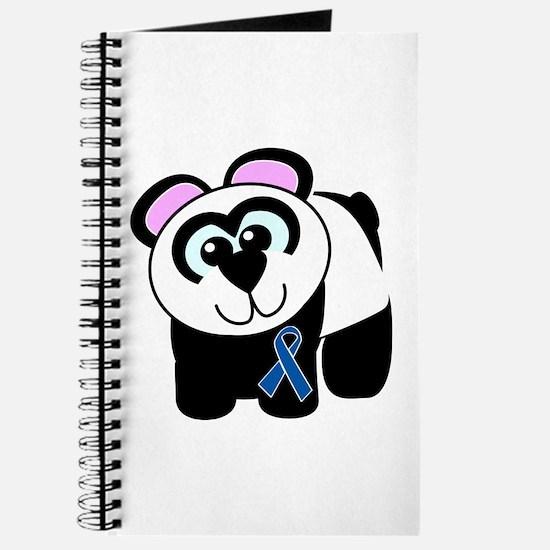 Blue Awareness Ribbon Goofkins Panda Journal