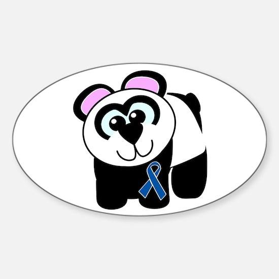 Blue Awareness Ribbon Goofkins Panda Decal