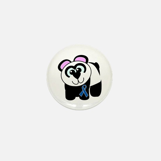 Blue Awareness Ribbon Goofkins Panda Mini Button