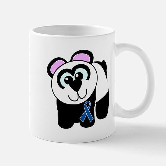Blue Awareness Ribbon Goofkins Panda Mug