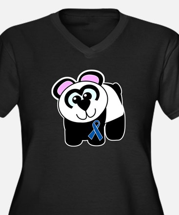 Blue Awareness Ribbon Goofkins Panda Women's Plus
