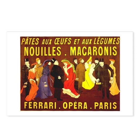 Ferrari Opera Paris Postcards (Package of 8)