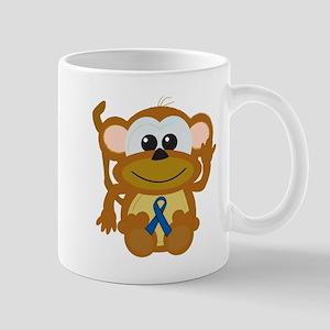 Blue Awareness Ribbon Goofkins Monkey Mug