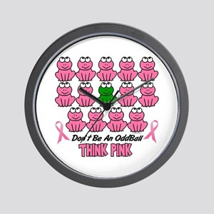 Pink Frogs 2 Wall Clock