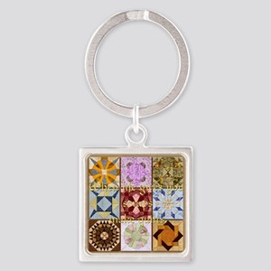 Harvest Moons Quilt Keychains