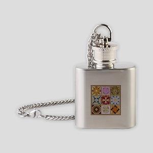 Harvest Moons Quilt Flask Necklace