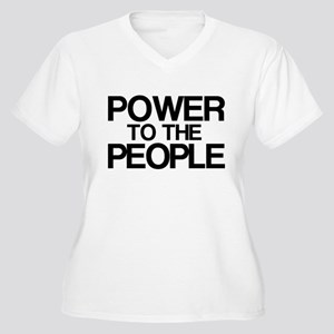 Power to the People Women's Plus Size V-Neck T-Shi