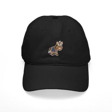 Blue Awareness Ribbon Goofkins Horse Black Cap